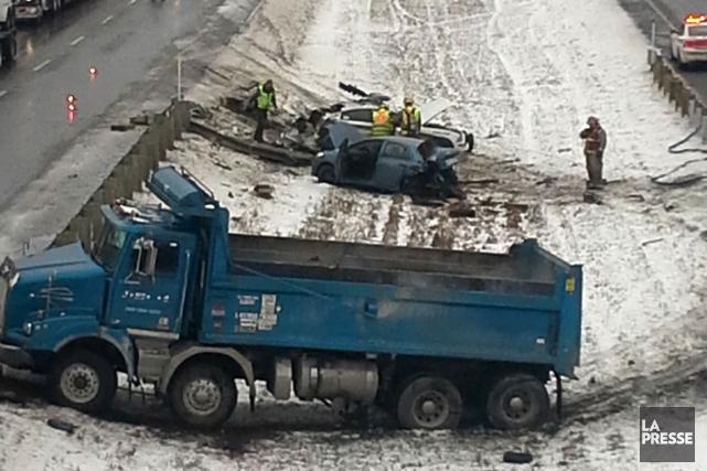 Un policier du district de l'Estrie de la Sûreté du Québec a été impliqué dans... (Photo courtoisie)