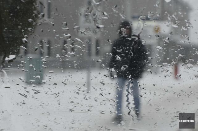 C'est de la pluie et non de la... (Photo: Sylvain Mayer, Le Nouvelliste)