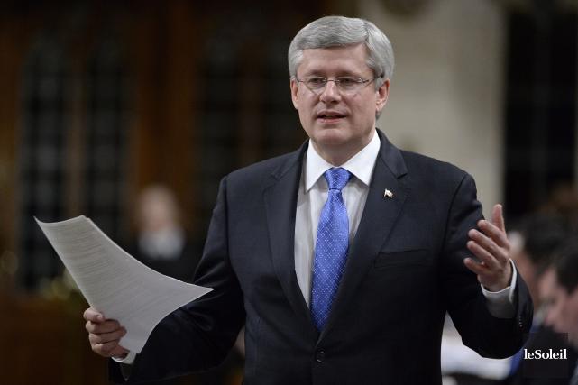 Le premier ministre du Canada, Stephen Harper... (Photothèque Le Soleil)