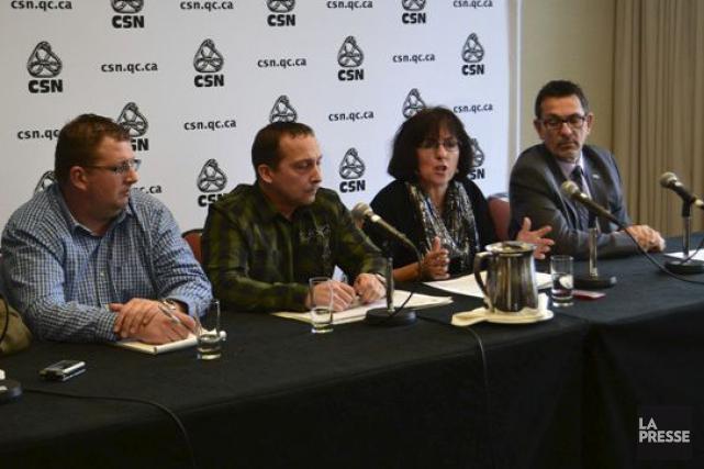 La CSN avait réuni ses lieutenants, dont Alain... (Collaboration spéciale Brigitte Lavoie)