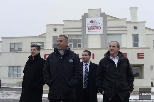 Les propriétaires du Blizzard Cloutier Nord-Sud Sylvain Robert,... (Photo: Sylvain Mayer Le Nouvelliste)