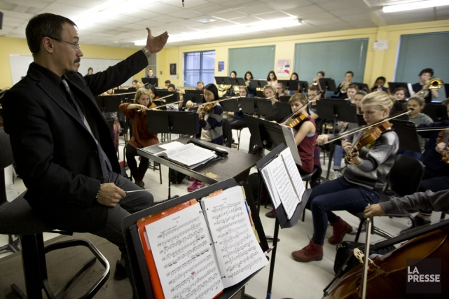 L'orchestre de l'école Joseph-François-Perrault est le seul du... (PHOTO FRANÇOIS ROY, LA PRESSE)