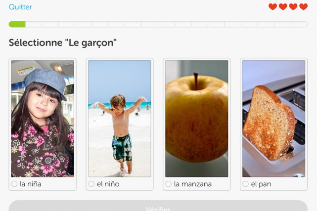 Quoi de mieux que d'apprendre les rudiments de l'espagnol avant de boucler sa... (Photo tirée de l'application)