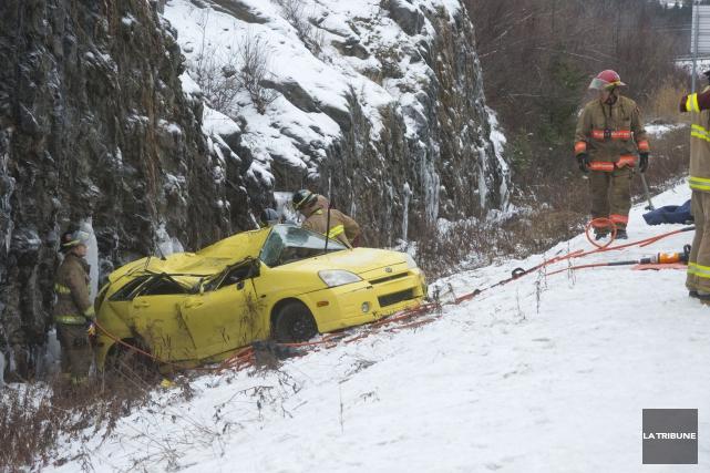 La prudence était de mise sur les routes de la région de l'Estrie où les... (Imacom, Julien Chamberland)
