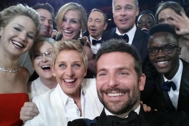 Le selfie d'Ellen Degeneres aux Oscars 2014.... (PHOTO TIRÉE DE TWITTER)