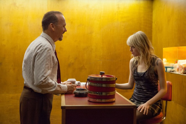 Michael Keaton et Emma Stone dans Birdman.... (Photo: fournie par Fox Searchlight)