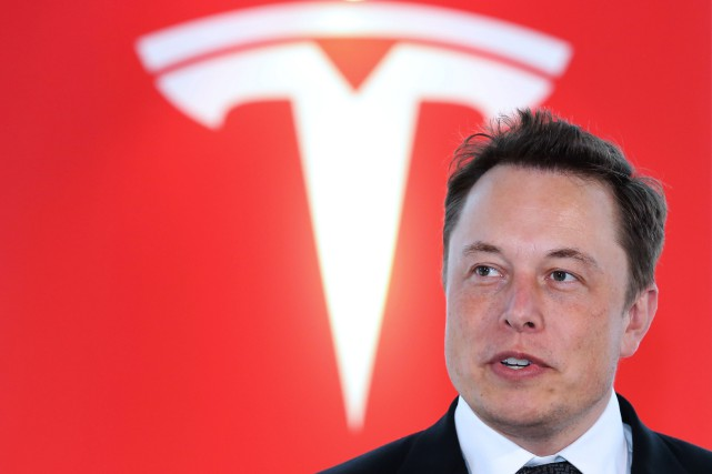 Le PDG de Tesla, Elon Musk... (Photo archives Bloomberg)