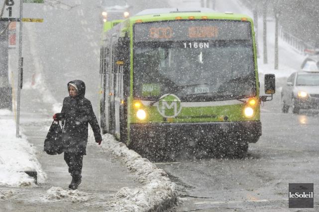 Seuls de cinq à sept centimètres de neige... (Photothèque Le Soleil, Patrice Laroche)