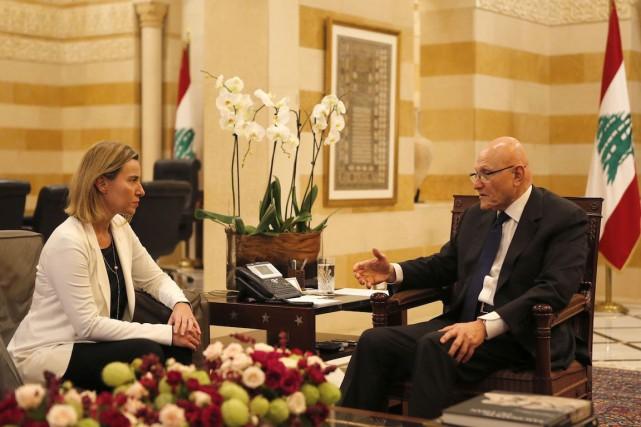 Le premier ministre libanais Tammam Salam a rencontré... (Photo Mohamed Azakir, REUTERS)
