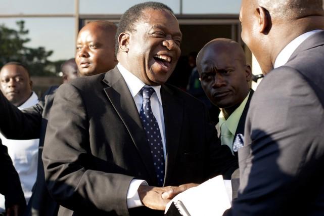 Emmerson Mnangagwa a été nommé vice-président du parti... (PHOTO  JEKESAI NJIKIZANA, afp)