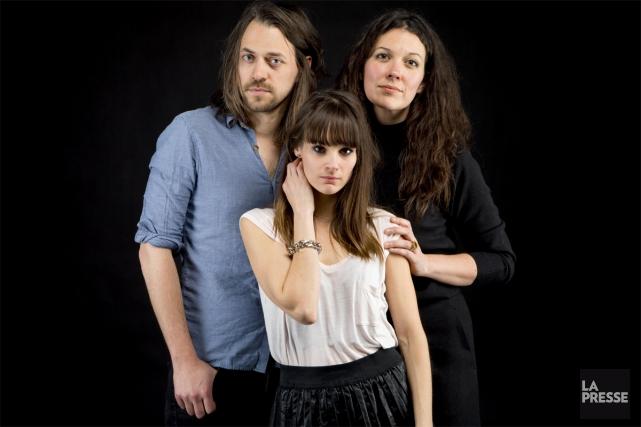 Antoine Corriveau, Stéphanie Lapointe et Alejandra Ribera.... (Photo: Alain Roberge, La Presse)