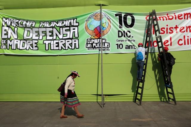 La manifestation de Lima fait écho à la... (PHOTO ALONSO CHERO, ARCHIVES AFP)