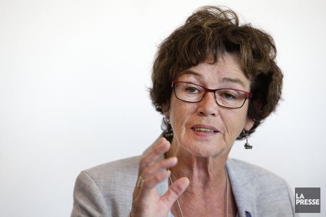Louise Chabot, du Secrétariat intersyndical des services publics... (Photothèque La Presse)