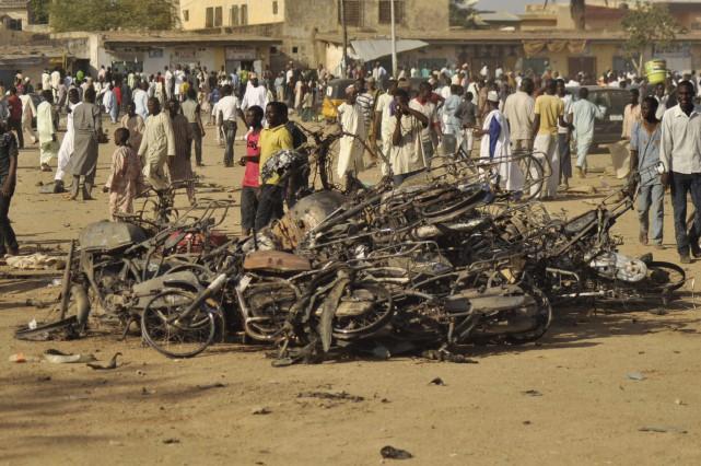 Boko Haram a multiplié les attaques au Nigeria... (Photo Muhammed Giginyu, AP)