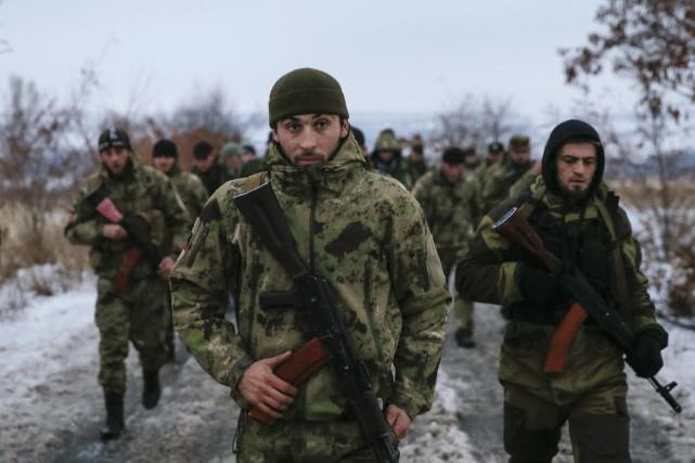 Selon les Ukrainiens, les rebelles prorusses (photo) ont... (Photo Maxim Shemetov, Reuters)