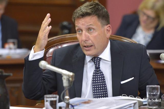 Le ministre des Affaires municipales, Pierre Moreau, a... (Photo: Le Soleil)