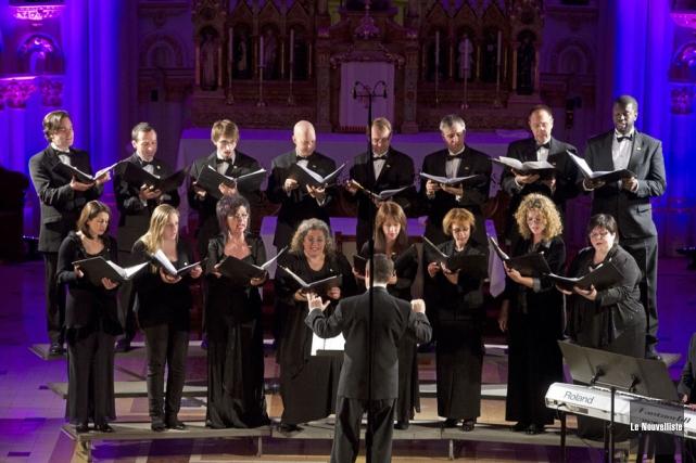 L'Ensemble Vocalys en sera à une troisième collaboration... (Photo: Stéphane Lessard, Le Nouvelliste)