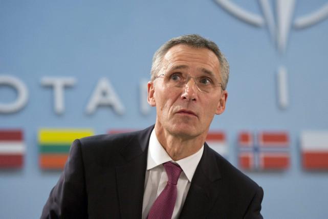 Le secrétaire général de l'Alliance atlantique, Jens Stoltenberg... (Photo Virginia Mayo, AP)
