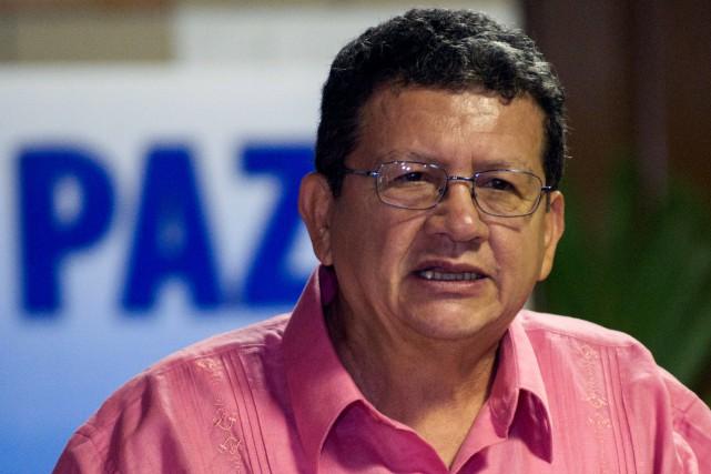 Le négociateur des FARC,Pablo Catatumbo... (PHOTO YAMIL LAGE, AFP)