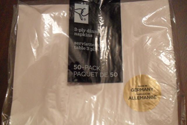 Avec ces serviettes de table, vous pouvez manger tout ce que vous voulez. Du... (Photo fournie)
