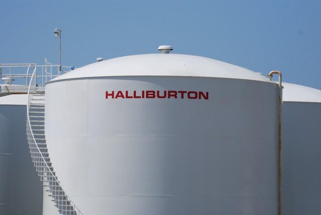 Halliburton a affiché une perte de 53 millions... (PHOTO MIRA OBERMAN, AFP)