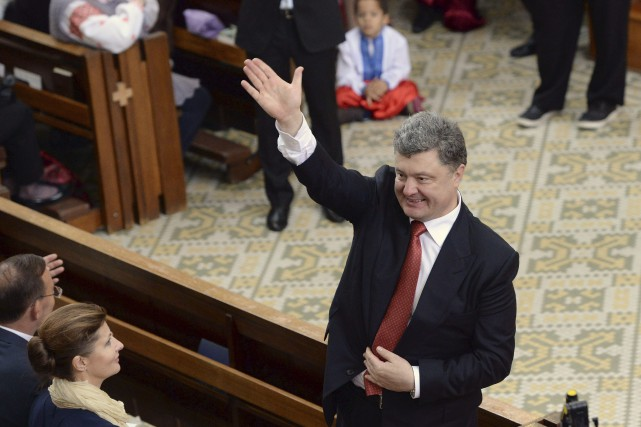 Le président ukrainien Petro Porochenko... (Photo Mal Fairclough, AP)