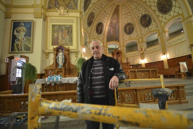 La réfection de l'église Saint-Michel est dans sa... (photo Maxime Sauvage)