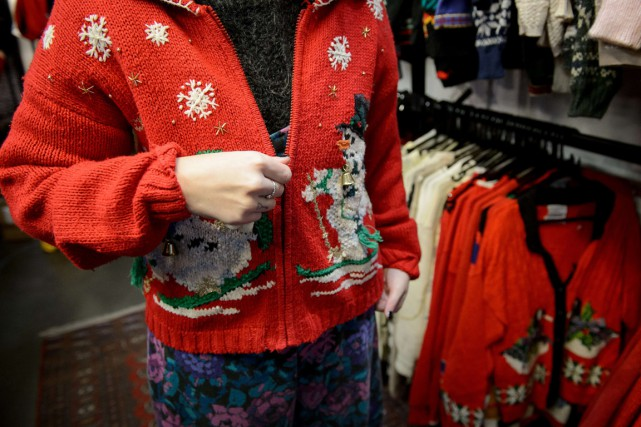 Il n'est pas question que les Christmas Jumpers perdent leur... (PHOTO LEON NEAL, AFP)