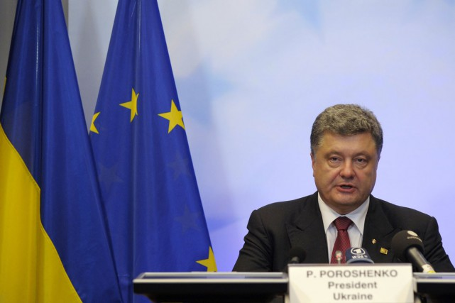 Le président ukrainien Petro Porochenko.... (Photo Laurent Dubrule, archives Reuters)