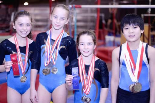Les athlètes Mélia Robert, Rosalie Tremblay-Dionne, Raphaëlle Perreault... (Photo fournie)