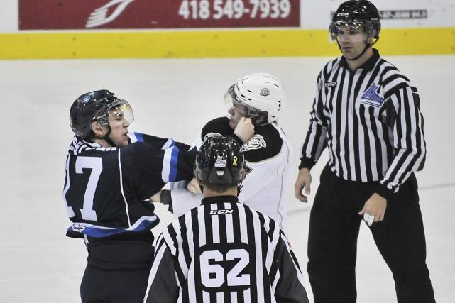 Malgré l'éclatante victoire face aux Islanders, un élément chicotait... (Rocket Lavoie)