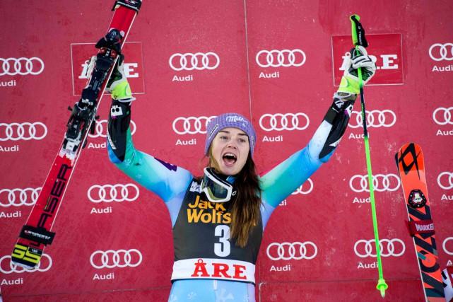 La skieuse slovène Tina Mazeadémontré toute sa polyvalence... (Photo Marcus Ericsson, archives AFP)