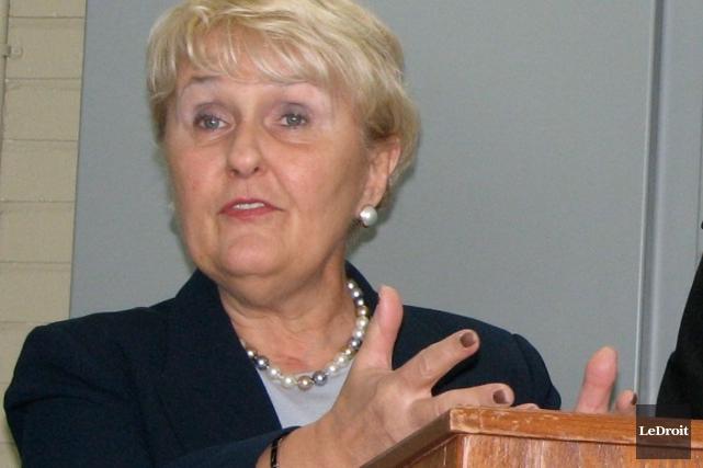 La mairesse de Hawkesbury, Jeanne Charlebois.... (Archives, LeDroit)