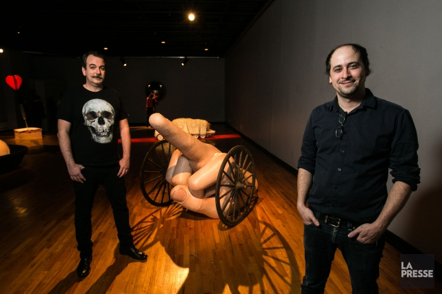 Le duo d'artistes Cooke-Sasseville... (PHOTO HUGO-SEBASTIEN AUBERT, LA PRESSE)