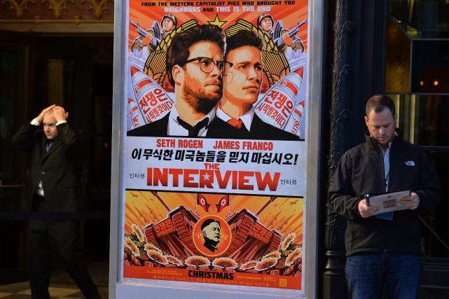 La sortie du long-métrage The Interview distribué par... (PHOTO AGENCE FRANCE-PRESSE)