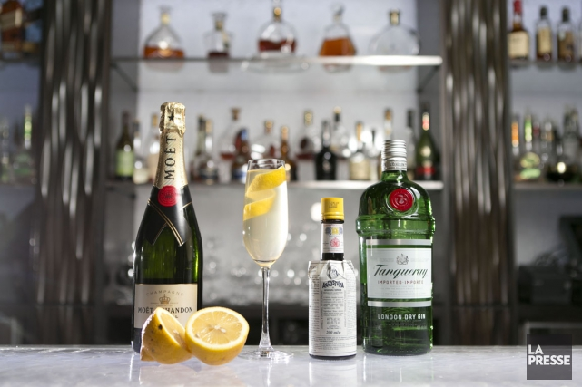 À base de champagne et de gin, le French 75... (PHOTO HUGO-SÉBASTIEN AUBERT, LA PRESSE)
