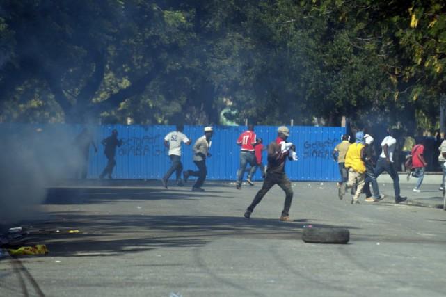 Haïti attend des élections législatives et municipales depuis... (Photo Hector RETAMAL, AFP)