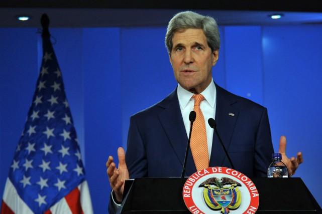 Le secrétaire d'État américain John Kerry.... (Photo Guillermo LEGARIA, AFP)