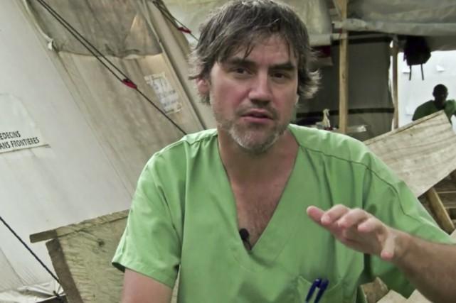 Le docteur Marc Forget a travaillé en Guinée... (Image tiree d'une video Medecins Sans frontieres)