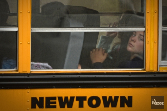 2012 - Une fusillade dans une école primaire de la ville de Newtown au... (Bernard Brault, Archives La Presse)