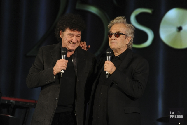 Robert Charlebois et Luc Plamondon... (Photo archives La Presse)