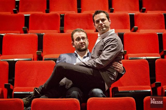 Eli Batalion et Jamie Elman, auteurs et acteurs... (Photo Patrick Sanfaçon, La Presse)
