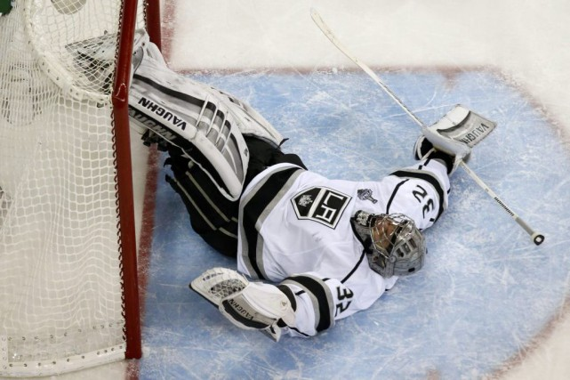 Le gardien des Kings, Jonathan Quick.... (Archives, Reuters)