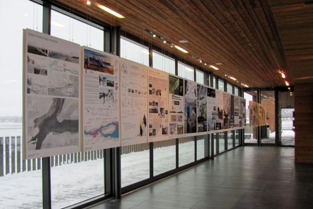 Voici un aperçu de l'exposition présentée samedi et... (Photo Josiane Dufault pour la CCNQ)
