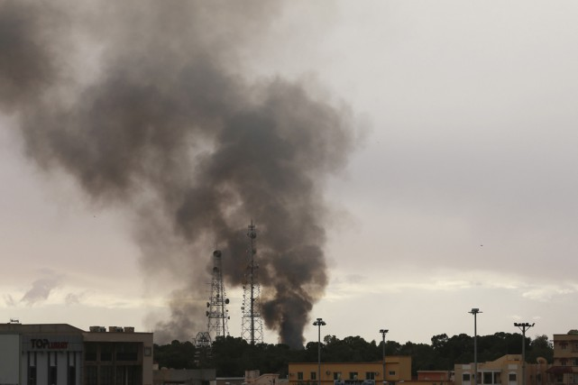 La coalitionFajr Libya a confirmé l'assaut lancé pour... (PHOTO ESAM OMRAN AL-FETORI, REUTERS)
