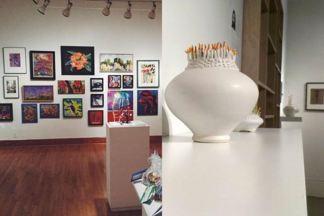 À gauche, la galerie de l'École d'art d'Ottawa;... (Courtoisie)