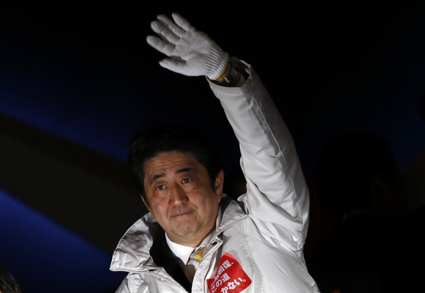 Le premier ministre japonais Shinzo Abe... (Photo Thomas Peter, archives Reuters)