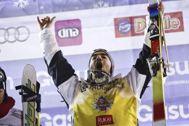 Philippe Marquis a remportél'or de l'épreuve de bosses... (Agence France-Presse)