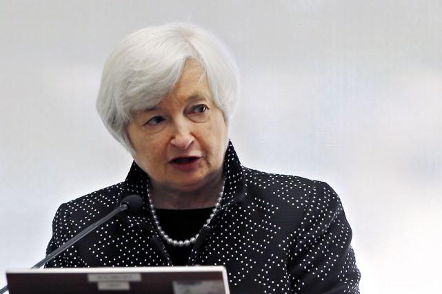 La présidente de la Réserve fédérale (Fed), Janet... (Photo BRIAN SNYDER, Reuters)