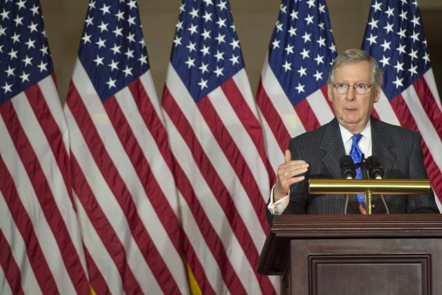 Le leader de la minortié républicaine au Sénat,... (Agence France-Presse)